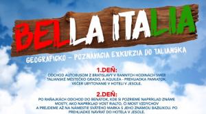 Bella Italia - exkurzia
